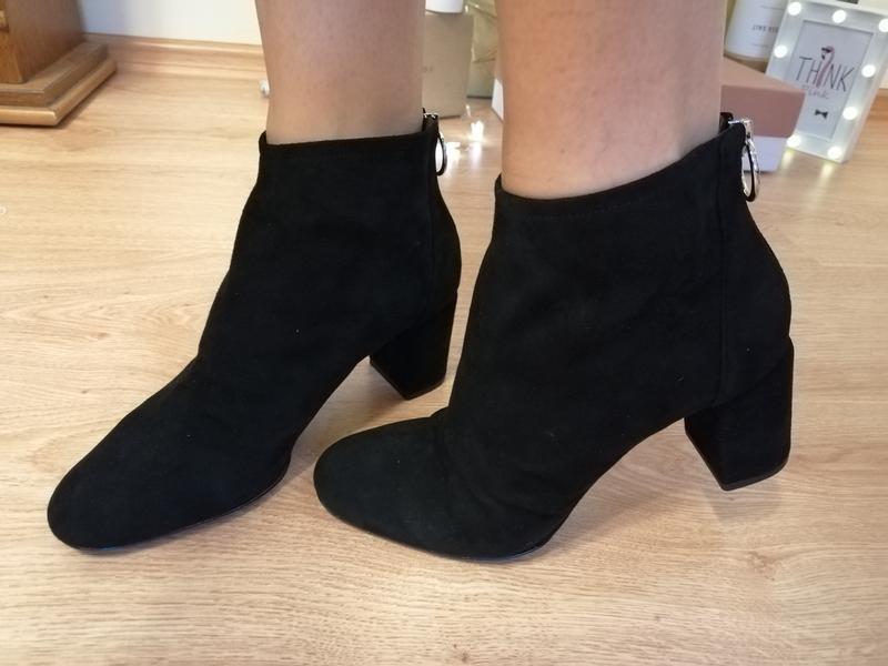 Замшевые ботинки полусапожки nine west - Фото 9