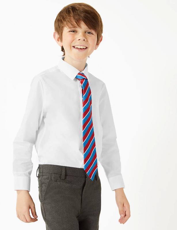 Белая рубашка для мальчика m&s на 8-9 лет (рост 128-134 см)