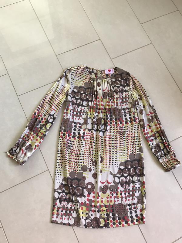 Платье шёлковое миди стильное  дорогой бренд herzensangelegenh...