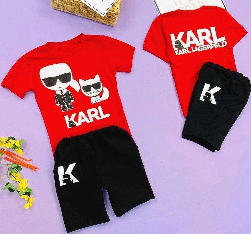 Крутой летний детский костюм для мальчика (футболка и шорты с ...