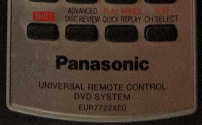 Пульт для домашнего кинотеатра Panasonic - EUR7722XE0