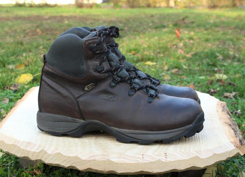 Кожаные мужские ботинки hi-tech, размер 41