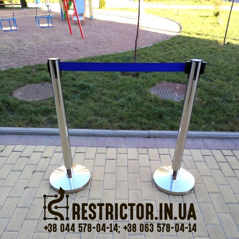 Ленточная стойка Рестриктор Стандарт с лентой 2 м, тенсатор - Фото 3
