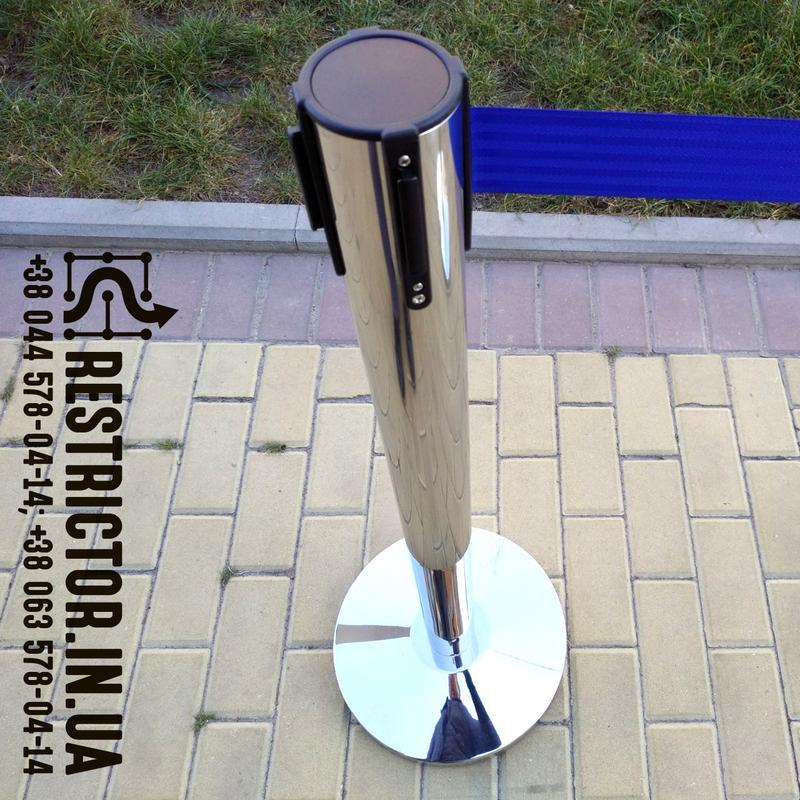 Ленточная стойка Рестриктор Стандарт с лентой 2 м, тенсатор - Фото 4