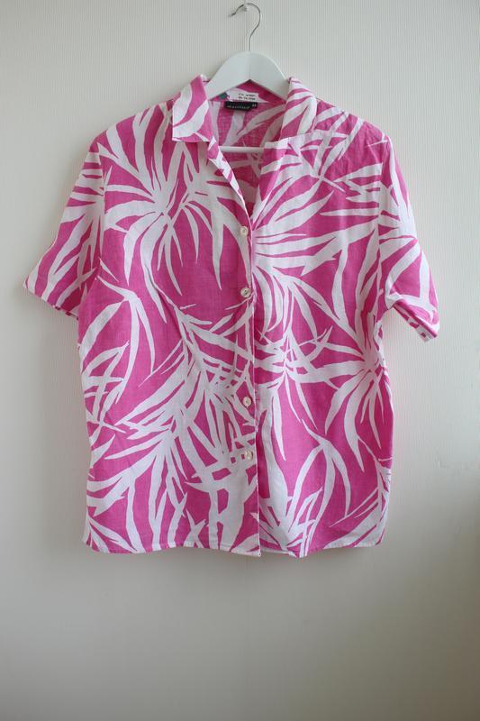 Распродажа!!! шикарная льняная блуза, 100% лен