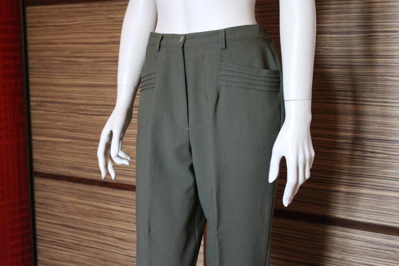 Распродажа!!!  винтажные классические брюки, высокая посадка о... - Фото 4