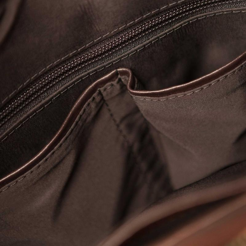 Мужская кожаная сумка через плечо - Фото 7