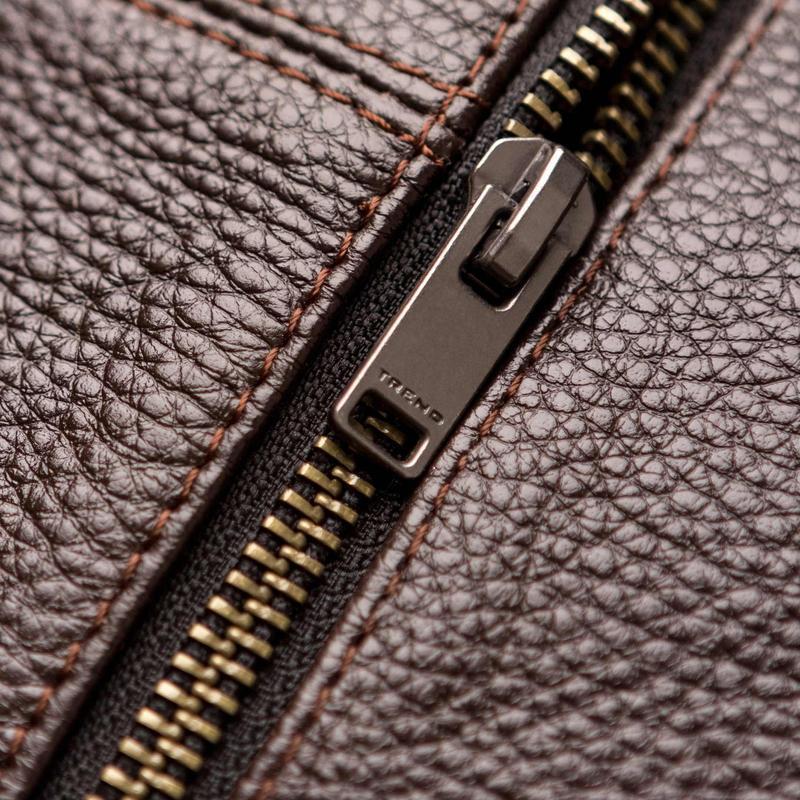 Мужская кожаная сумка через плечо - Фото 8