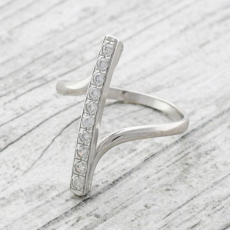 Кольцо прямое с камнями - Фото 4
