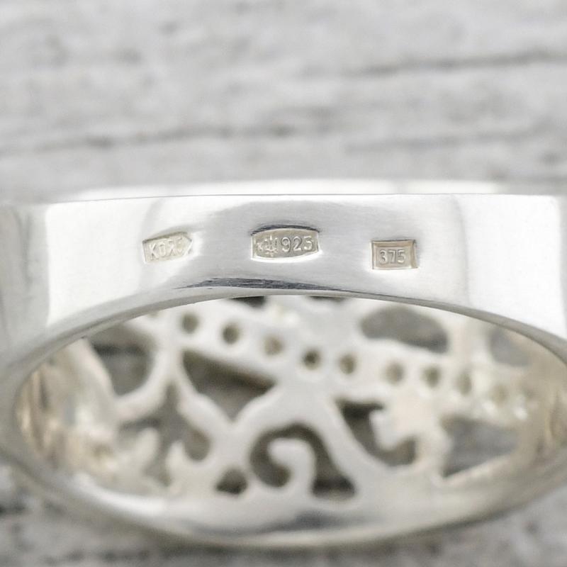 Серебряное кольцо с золотыми пластинами - Фото 3