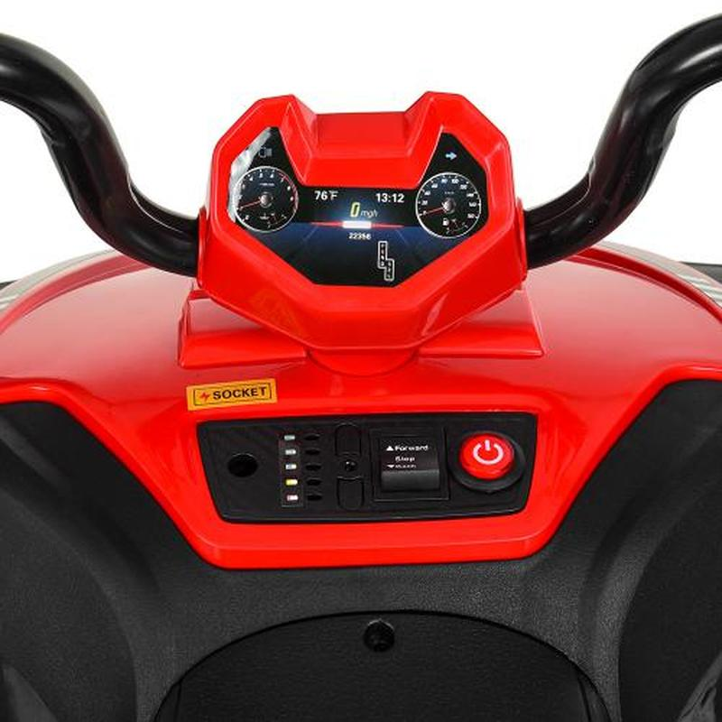 Детский квадроцикл M 4131 E-3, красный - Фото 3