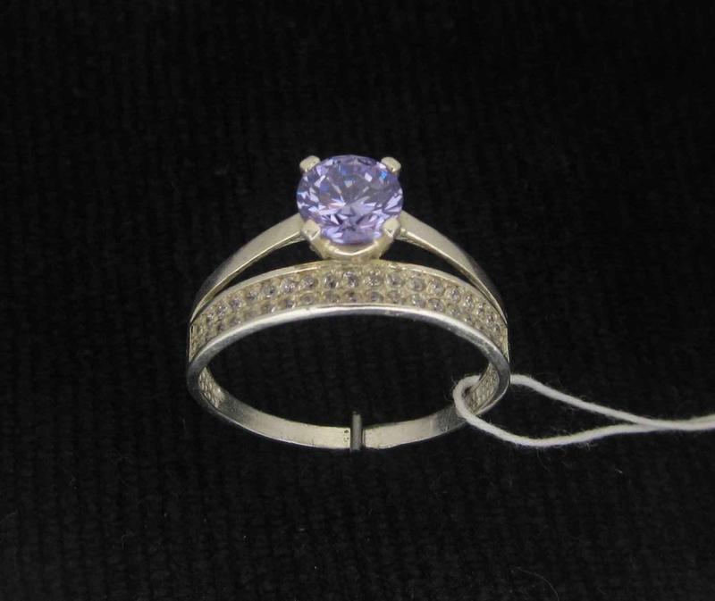 Кольцо серебро 925 проба 17,5 размер