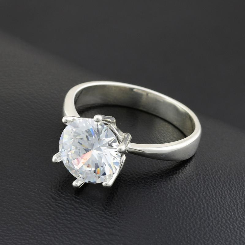 Серебряное кольцо 218-к, вставка белыефианиты, вес 2.74 г, ра... - Фото 2