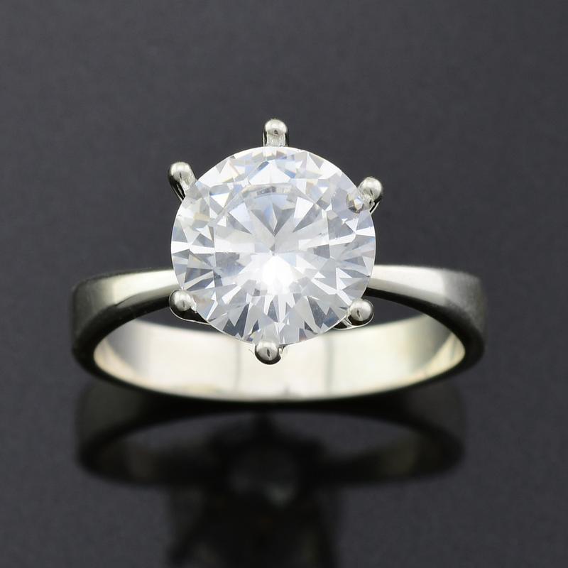 Серебряное кольцо 218-к, вставка белыефианиты, вес 2.74 г, ра... - Фото 3
