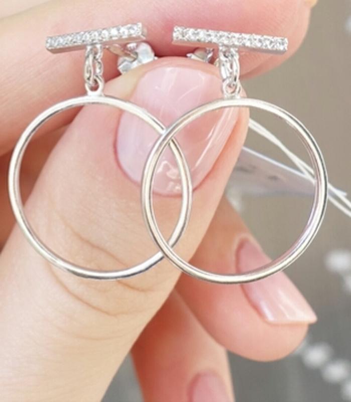Сережки-гвоздики круги