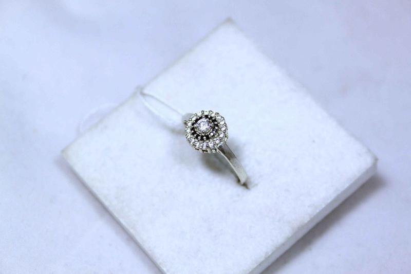Кольцо серебро 925 проба 17.5 размер - Фото 2