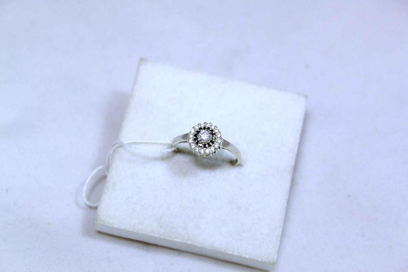 Кольцо серебро 925 проба 17.5 размер - Фото 4