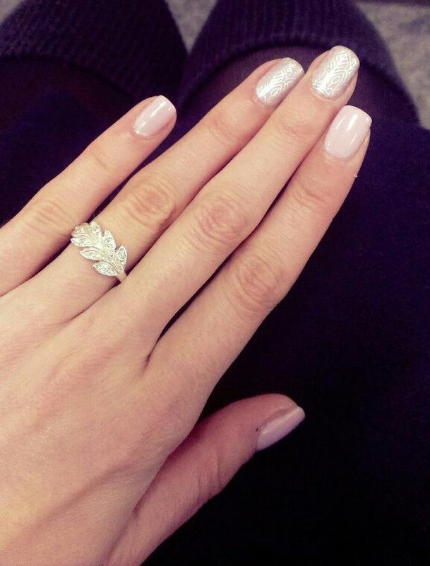 Серебряное кольцо колосок