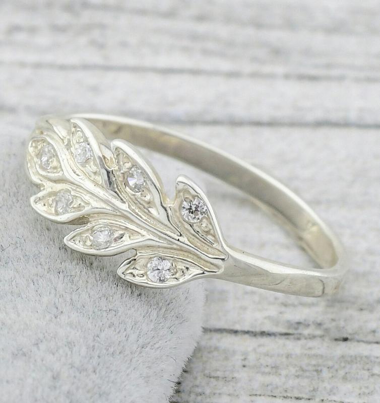 Серебряное кольцо колосок - Фото 2