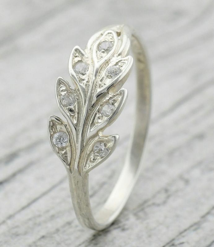 Серебряное кольцо колосок - Фото 3