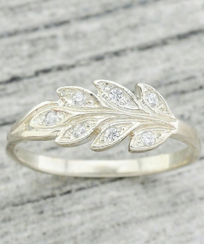 Серебряное кольцо колосок - Фото 4