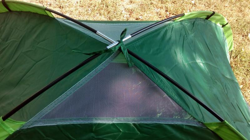 Палатка летняя туристическая походная двухместная 2.05х1.5х1.05см - Фото 3