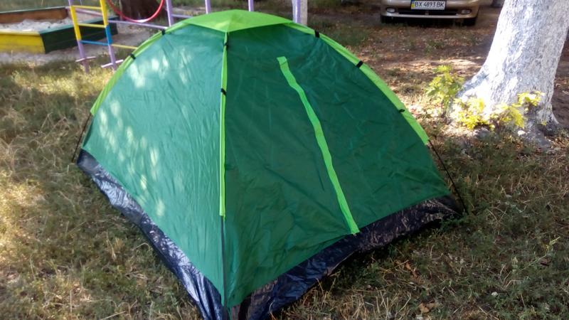 Палатка летняя туристическая походная двухместная 2.05х1.5х1.05см - Фото 4