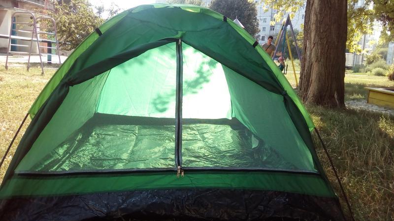 Палатка летняя туристическая походная двухместная 2.05х1.5х1.05см - Фото 5