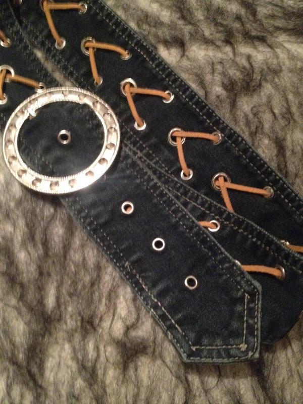 Оригинальный джинсовый поясок. - Фото 2
