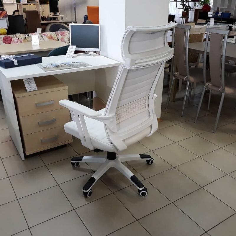 """Кресло компьютерное белое """"Моника"""" - Фото 5"""