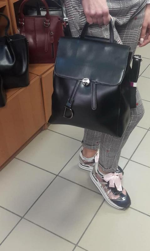 Рюкзак кожаный - Фото 5