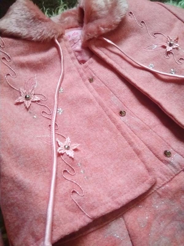 Костюм двойка платье и накидка пиджак болеро для девочки yong da