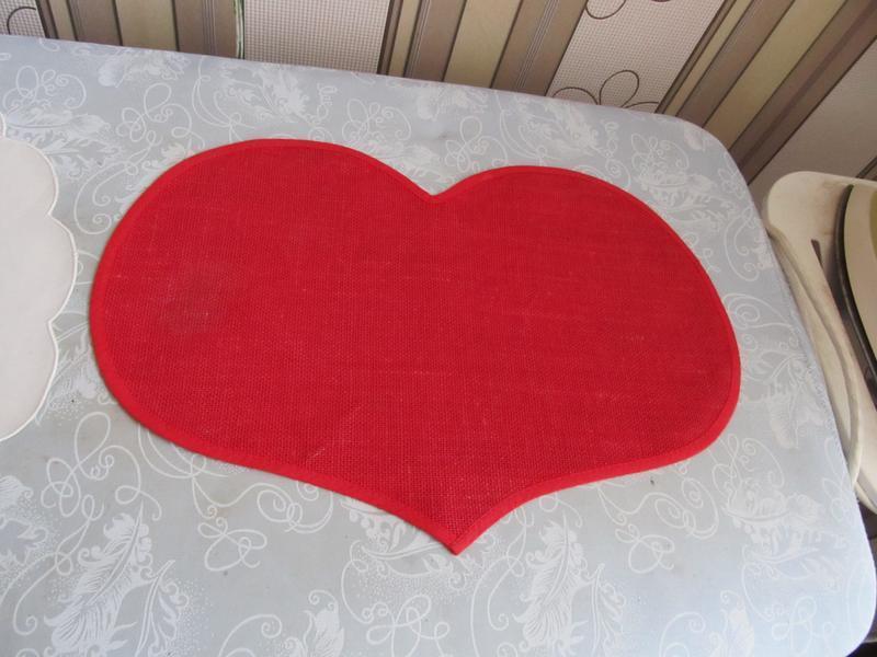 Салфетка-сердце ко дню святого валентина
