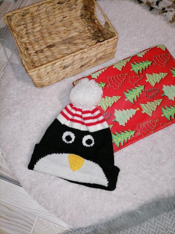 Шапка для мальчика пингвин
