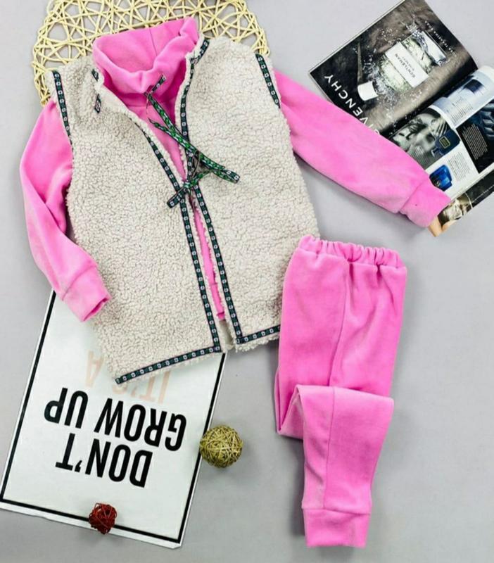 Теплый костюм для девочек