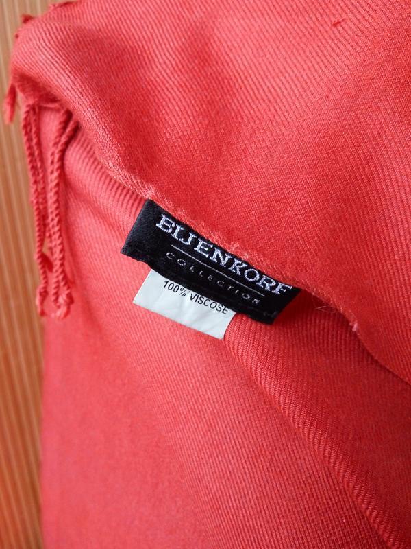 Яркий шарф палантин bijenkorf - Фото 2