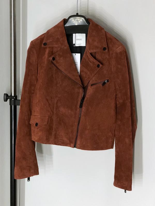 Качественная натуральная замшевая косуха куртка - Фото 2