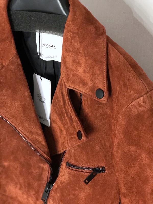 Качественная натуральная замшевая косуха куртка - Фото 3