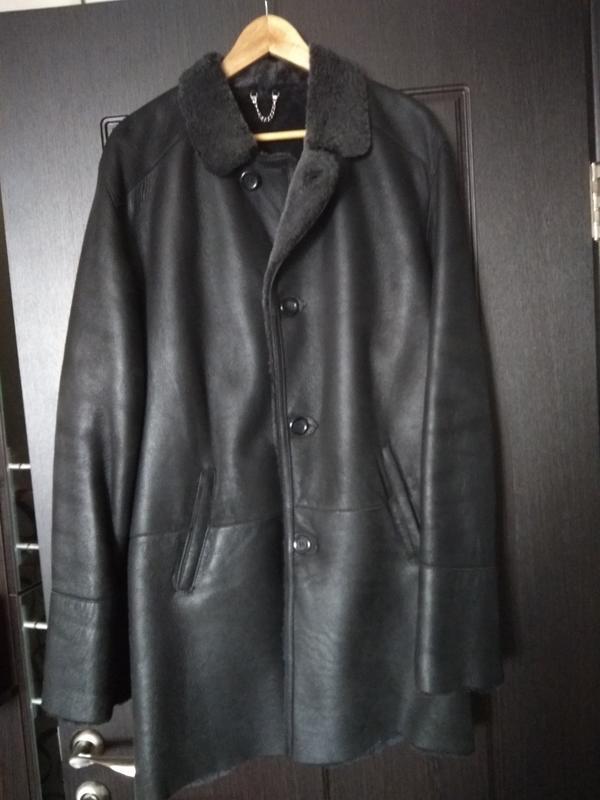 Новая мужская дубленка удлиненная куртка пальто - Фото 2
