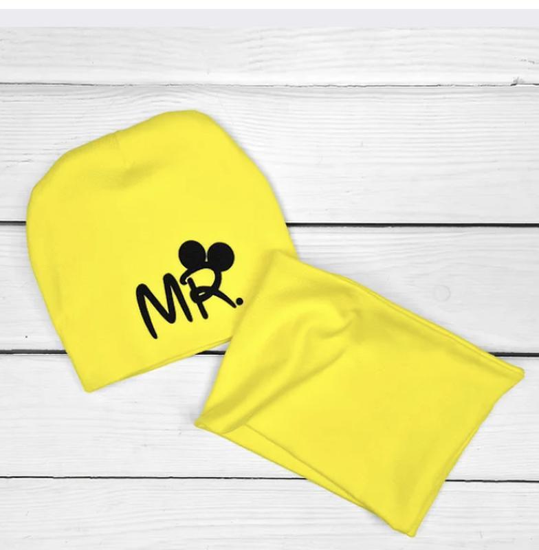 Набор комплект шапка шарф мистер mister деми