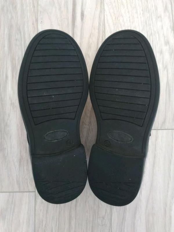 Туфли классические CLarks для мальчика (кожа), черные, 32,5 разме - Фото 5