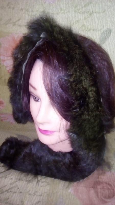Натуральный мех изумрудного цвета//хвост/меховая шапка/песцова... - Фото 6