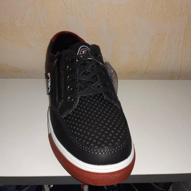 Летние кроссовки на мальчика 32-37р bessky, чёрные - Фото 2