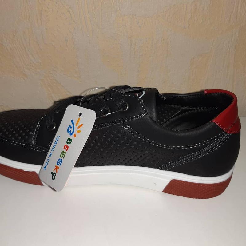Летние кроссовки на мальчика 32-37р bessky, чёрные - Фото 3