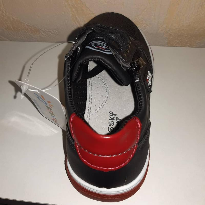 Летние кроссовки на мальчика 32-37р bessky, чёрные - Фото 4