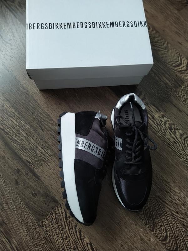 Новые кроссовки на платформе bikkembergs замша+текстиль