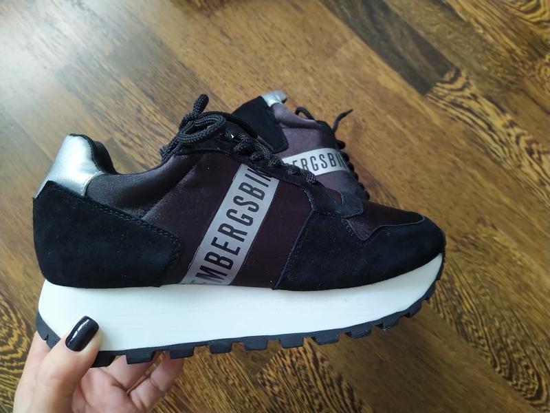 Новые кроссовки на платформе bikkembergs замша+текстиль - Фото 6