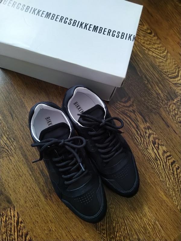 Новые кожаные кроссовки bikkembergs  bikk