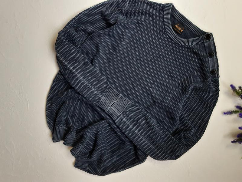 Винтаж, мужской коттоновый пуловер - Фото 2