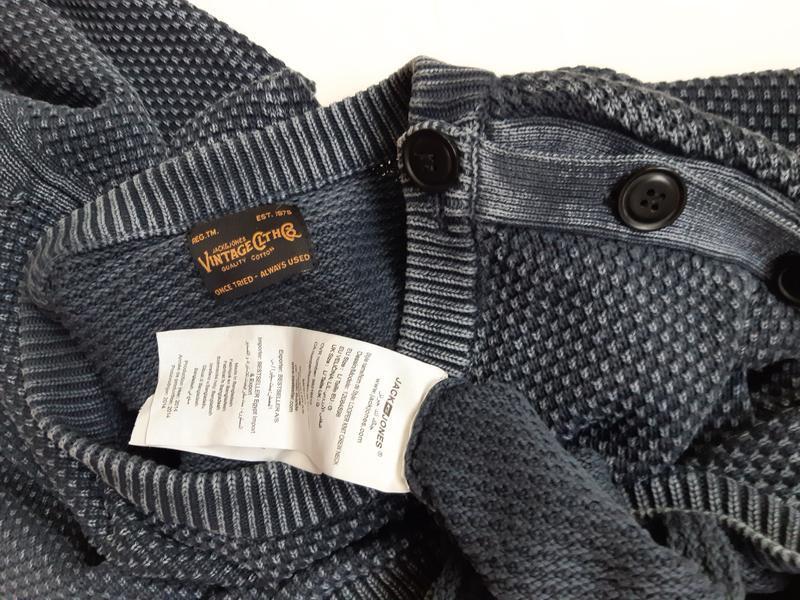 Винтаж, мужской коттоновый пуловер - Фото 3